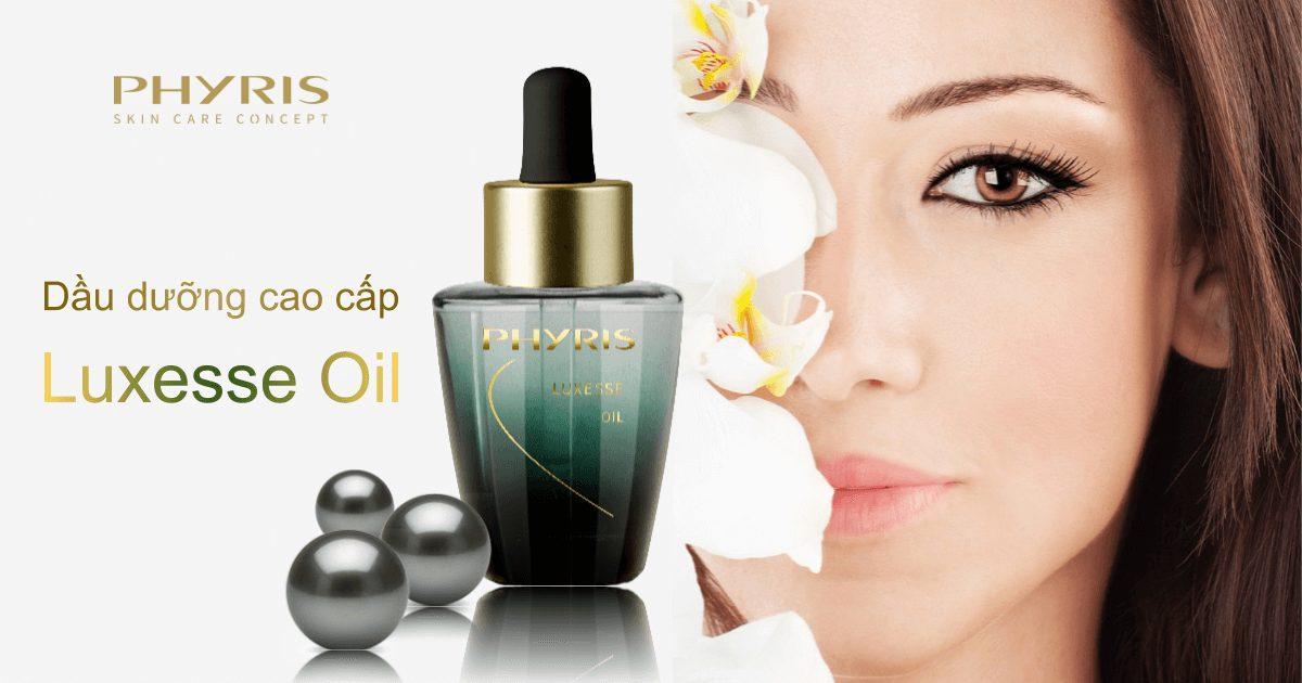 Trị liệu căng bóng da mặt hiệu quả hơn với sản phẩm Luxesse Oil của Phyris.