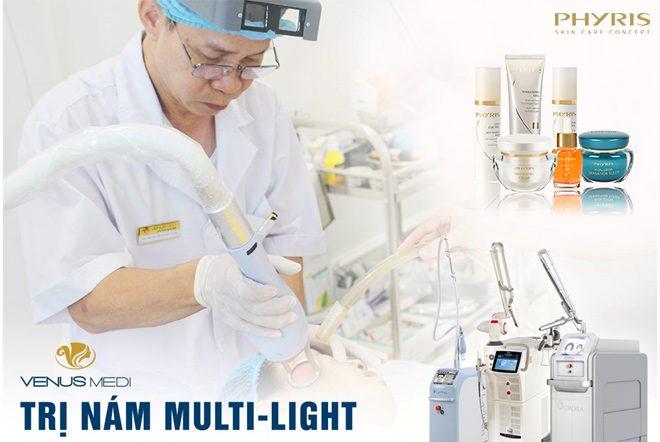 Ứng dụng sản phẩm Phyris vào quy trình trị nám tại Venus Spa.