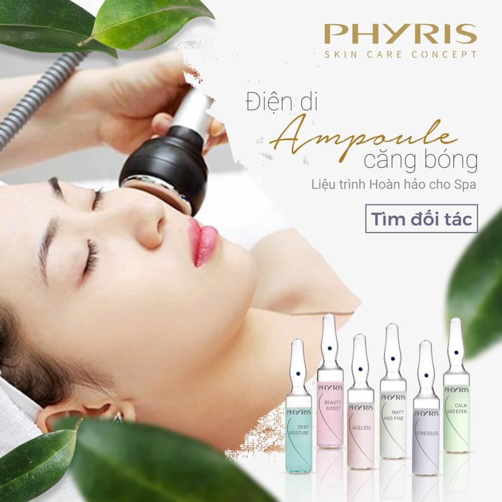 Liệu trình hoàn hảo cho Spa với điện di tinh chất Ampoule của PHYRIS.
